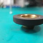 加工後のアイドラー真円出し加工も施しています