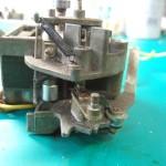 修理前:トランスミッション分解中