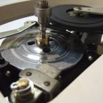 Garrard301 電磁ブレーキ部、プーリーはオリジナル50Hz仕様