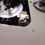 レストア前 電磁ブレーキ部の割りピンが外された形跡があります